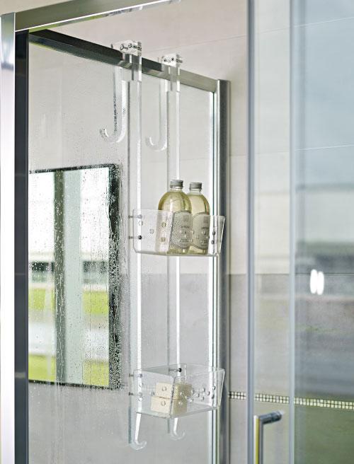 Portasapone doccia plexiglass idee creative di interni e - Mensola porta piatti ...