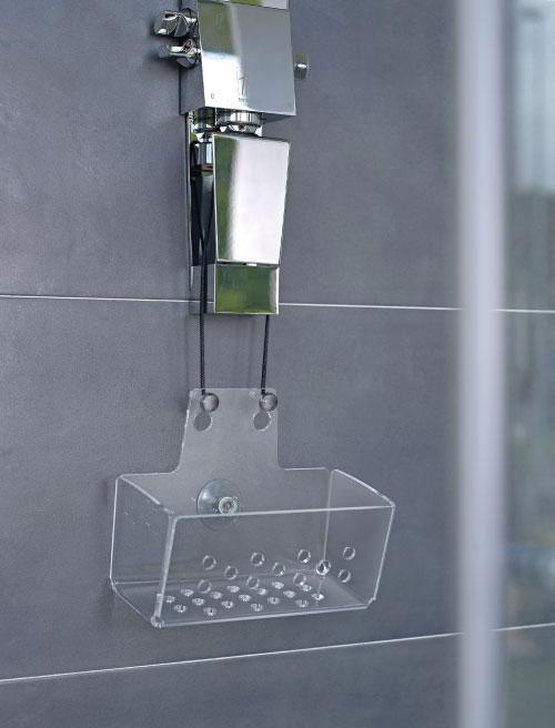 Pensili doccia in plexiglas - Accessori doccia portaoggetti ...